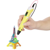 OBEST NIU 3D Printing Pen 160-235℃ for 3D Arts & Crafts Drawing with LED screen and 10m 1.75mm PLA Filament