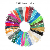 3D Pen Filament Refills, niceEshop(TM) 1.75mm PLA with Total of 20 Different Colours 3D Printing Pens Filaments Supplies for 3D Print Pen