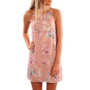 Women Dress, Familizo Ladies Off Shoulder Vest Dress Casual Sleeveless Dress