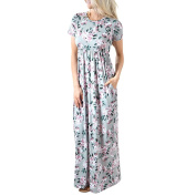 Women Dress, Familizo Summer Floral Printing O-Neck Long Dress