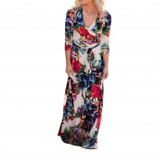 Women Dress, Familizo Ladies Boho Floral Long Dress Maxi Evening Party Beach Sundress