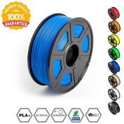 SUNLU 3D Printer Filament PLA Plus, 1.75mm PLA Filament, 3D Printing Filament Low Odour, Dimensional Accuracy +/- 0.02 mm, 2.2 LBS (1KG) Spool 3D Filament for 3D Printers & 3D Pens, Sky Blue PLA+