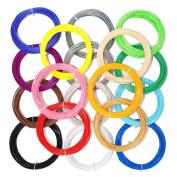 22pcs 3D Pen Filament Refills,1.75mm PLA Filament 10m Per Colour With 22 Colours for 3d Printer Pen Printer