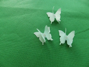 mums butterflies 10 3D torquoise plus diamonte 3cm x 3cm