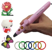 CCTREE 3D Printer Pen Low Temperature 5th Generation Use Powerbank with USB Cable for Doodling, Drawing, Art & Craft Making, 3D Modelling,PCL Filament Safe for Kids