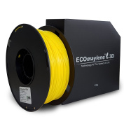 ECOmaylene3D PLA Printer Filament 1Kg Spool Fuzzy Yellow 1.75mm Dimensional Accuracy +/- 0.05 mm | Consistent 3D Printing, Great Density & Layer Bonding, No Warping,No Cracking, Odourless & Easy To Use