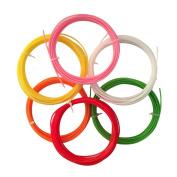 UEETEK 3D Pen Filament Refills 1.75mm PCL Filament Refills for 3D Printer 6 Colours 5m Each - 6pcs