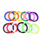 ALUNAR 3D Pen Filament Refills 1.75mm PLA Plastic Filament of 12 Different Colours in 9.8m Lengths