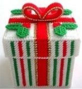 Chunky Cross Stitch Christmas Gift Box