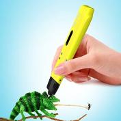 LEKEMI 3D Pen Intelligent 3D Printing Pen for Children Craft Drawing Doodling