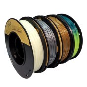 PLA 1.75mm 4x250g Gold/Silver/Glow in Dark/Temperature Change - Filament Set for 3D Printer - C12 Negative