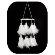 Dream Catcher, Handmade Modern White Wedding Outdoor Ornament by IEVE~15cm Diameter 50cm Long