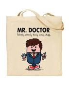 Mr Doctor - 10th Doctor - Dr Who & Mr Men Mash-Up - Dr Who Fan - Tote Bag - Shopping Bag - Reusable Bag - Bag For Life - Beach Bag - Totes - Funky NE Ltd®