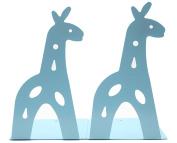 Y-H Cute Cartoon Blue Giraff Iron Metal Nonskid Bookends Art Bookends Bookend Art Gift