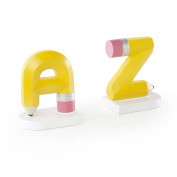 Alphabet A to Z Hand Painted Bookends for Kids, Teachers
