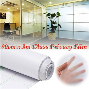 New 90cm 3M Frosted Window Tint Glass Privacy PVC Film For DIY Home/Office/Store