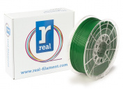 Real Filament 8719128321448 Real PETG, Spool of 1 kg, 2.85 mm, Opaque Green