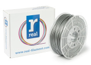 Real Filament 8719128325248 Real PLA, Spool of 1 kg, 2.85 mm, Silver