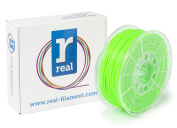 Real Filament 8719128326054 Real PLA, Spool of 1 kg, 2.85 mm, Fluor Green