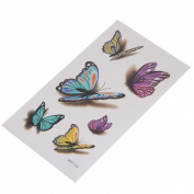 VWH Women 3D Colourful Butterfly Temporary Tattoo Sticker Sexy Art Waterproof Paper
