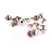 10pcs 9.5x6mm Gun Fashion Bullet Studs And Spikes For Clothe Punk Garment Rivets