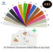 VICTORSTAR @ ABS 3D Pen Linear Filament Refill 14 Colours - 140 Metres (459.2ft) - 20 Bonus Stencils / Stick Straight Filament / 12 Colours + 2 Colours Glow in the Dark / Diameter 1.75mm - 40 Strands Each Colour