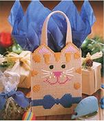 Chunky Cross Stitch Gift Bag Set in Cute Cat Design