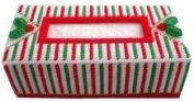 "Chunky Cross Stitch Tissue Box Cover""Christmas Design"" 3D"