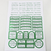 Craft UK Limited A4 Pearlised Sheet Die Cut Captions Christmas Wishes Green