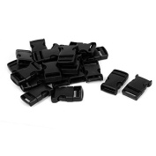 DealMux Plastic 1 Wide Webbing Strap Side Release Buckle 20Pcs Black