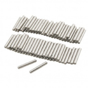 DealMux 100 Pcs Stainless Steel 2.6mm x 15.8mm Dowel Pins Fasten Elements
