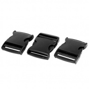 DealMux Plastic 2 Wide Webbing Strap Side Release Buckle 3Pcs Black