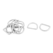 DealMux Stainless Steel Luggage Handbag Belt D Shaped Buckles Ring Hooks 10pcs