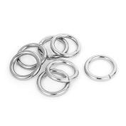 DealMux Metal O Shaped Handbag Backpack Ring Buckle 28mm Dia 7Pcs Silver Tone