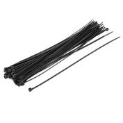 DealMux 50 Pcs Nylon Self Locking Network Cable Zip Ties Straps Fasteners 3x250mm Black