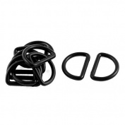 DealMux Backpack Bag D Ring Buckles 2.5cm Inside Diameter 10Pcs Black