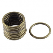 DealMux Bag Fittings Open Jump Rings 35mm Dia 10 Pcs Bronze Tone