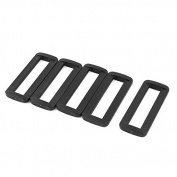 DealMux Plastic Bag Bar Slides Buckles 5 Pcs Black for 50mm Webbing Strap