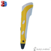 RayLineDo® 3D Printing Pen 1st Generation Stereoscopic Intelligent Drawing Pen Arts Crafts Drawing Printer with Free ABS Supply in Yellow