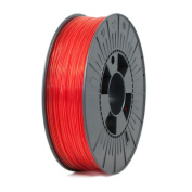 ICE FILAMENTS ICEFIL1PET154 PET Filament, 1.75 mm, 0.75 kg, Transparent Romantic Red