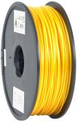 eSun 3D Printer Filament, PLA, 3 mm, 1 kg Reel, Gold