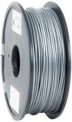 eSun 3D Printer Filament, PLA, 3 mm, 1 kg Reel, Silver