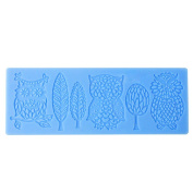Demarkt 3 Shape Lace Owl Mould Moon Tree Silicone DIY Moulds for Cake Decorating Resin Baking Tool Cake Mould Novelty