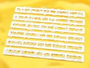 Dough Scraper 12667 Funky Alphabet Cutters plastic 33 x 9 x 2 cm White