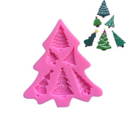 Christmas Trees Series Silicone Candy Cake Moulds Fondant Moulds
