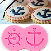 LAMEIDA Boat Anchor Shape Silicone Cake Mould Muffin Chocolate Sweet Mould Cake Jelly Ice Silicone Fondant Mould Baking Mould Decor for Home Kids Children