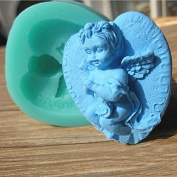Silicone 3D Angel Baby Cake Mould Fondant Sugar Mould