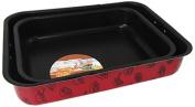 viscio Trading 174485 Lasagne Pan Eco Cooking, Aluminium, Red, 2 Units