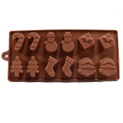 Jooks Silicone Christmas Chocolate Cake Jelly Ice Fondant Mould Mould Baking Moulds Biscuit Moulds Bakeware Baking Moulds Cake Decorating 1PCs