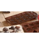 Silicone Shell Chocolate Mould with Non-Stick 12-Cavity Baking